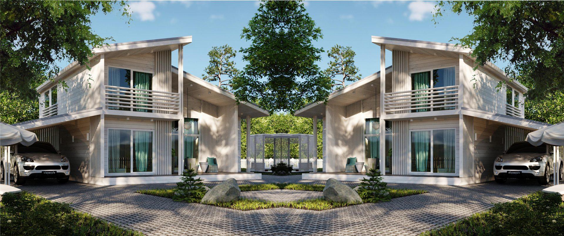 Зеркальный вариант дома